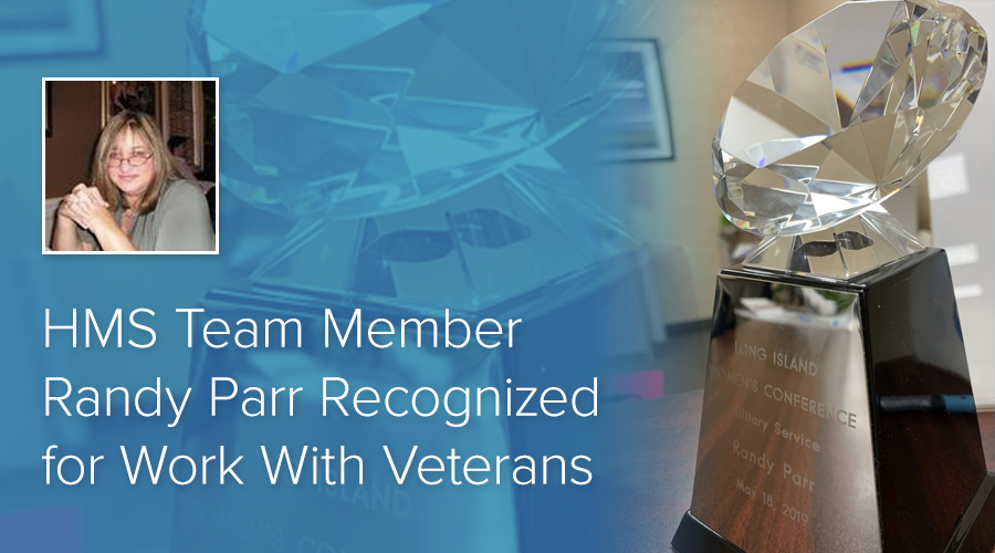 HMS Team Member Randy Parr Recognized for Work With Veterans